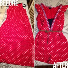 Hey Wanderer: before and after: goodwill dress to a flirty romper