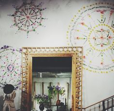 I am definitely going to paint some mandalas on our gallery wall in the living room!