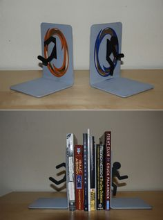 Portal 2 bookends are sweet