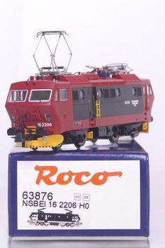 #modelrailways 63876 #HOgauge - #NORWEGIAN #NSB CLASS EI 16 #ELECTRICLOCOMOTIVE 16 2206  #DCC READY #Roco #Locomotives