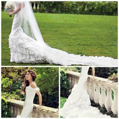 No matter how hard we try to pretend we don't, we do like to see what the celebs are wearing to their next nuptials. From Cindy Crawford bare foot on the beach to a Karsashian Kreation even if we aren't getting married it's fun to see celebrity wedding dresses. #celebrityweddings #weddingdresses