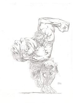 Charging Hulk by David Finch Comic Art Comic Book Artists, Comic Book Heroes, Comic Books Art, Comic Art, Cool Sketches, Drawing Sketches, Drawings, Hulk Marvel, Marvel Comics