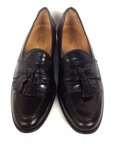 Johnston and Murphy Mens Shoes 9.5 B Black Leather Loafers #JohnstonMurphy #LoafersSlipOns