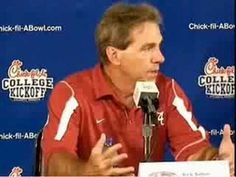 """Saban gets irritated (or """"pissed"""") - YouTube"""