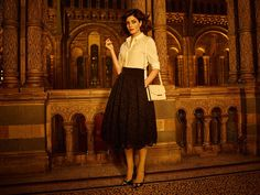 4552b7f00830c4 Image result for ted baker vintage dress Leather Court Shoes