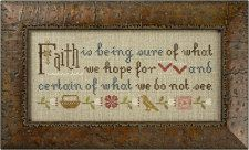 click here to view larger image of Faith Is - Inspiration Boxer (counted cross stitch kit)