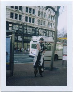 No big deal, just a satyr playing the bagpipes downtown. | via @polaroidsf