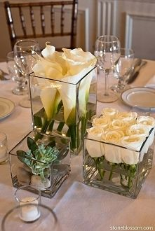 60 Simple & Elegant All White Wedding Color Ideas simple white wedding table setting decor