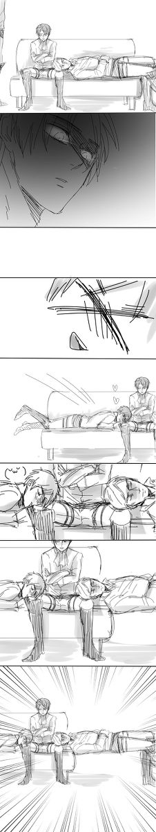Eren does NOT like people touching his Heichou!