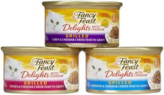 Purina Fancy Feast Delights With Cheddar Gourmet Cat Food Grilled Varieties - 24 CT => Trust me, this is great! Click the image. : Best Cat Food