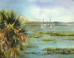 At Rest by Helen K. Beacham Watercolor ~ 8.75 x 11