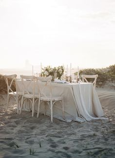 Beach Wedding Set Up Windswept By The Sea Editorial Koby Brown Photography Hamptons