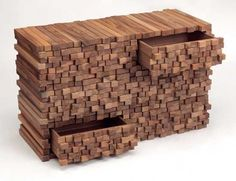 These wood furniture pieces are a fun project Wooden Heap by Switzerland based artist and designer Boris Dennier