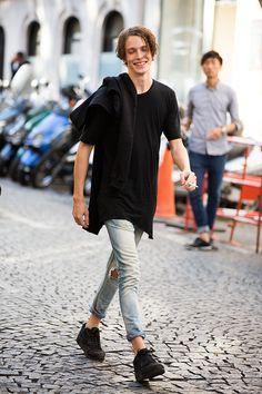 Street looks à la Fashion Week homme printemps-été 2016 de Paris