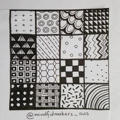zentangle easy patterns mindful doodle zen beginners zentangles drawing draw pattern drawings doodles aus makers tutorials discover