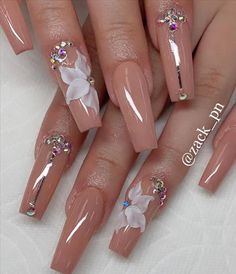 Do you want to have these fabulous nails as soon as possible? Take a look at our collection of best coffin nails design! Bling Acrylic Nails, Summer Acrylic Nails, Best Acrylic Nails, Rhinestone Nails, Bling Nails, Swag Nails, Pastel Nails, Cute Acrylic Nail Designs, Fall Nail Designs