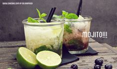 Bebida Mojito, Party Drinks, Ethnic Recipes, Alcohol, Food, Kitchen, Juices, Deserts, Cooking