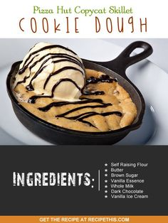 Welcome to my Pizza Hut Copycat Skillet Cookie Dough recipe. I have to admit to being addicted to trips to Pizza Hut. The lure of the pizza, the sides and of course the dessert has me there all the time. I prefer going to the Pizza Hut in Portugal though as unlike with England they have a lot more olive oil in their dishes and we always end up sat their in silence while we all eat it up. My mum was the person that originally introduced me to Pizza Hut and along side a shopping trip to York…
