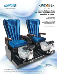 Gulfstream is the only manufacturer to go to for pedicure benches, pedicure spas, and custom built furniture. Call a sales rep today for details and pricing! Salon Furniture For Sale, Spa Furniture, Selling Furniture, Spa Pedicure Chairs, Pedicure Chairs For Sale, Pedicure Spa, Manicure Table For Sale, Velvet Material, Luxury Spa