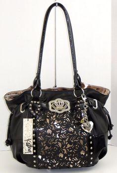Kathy Van Zeeland Handbag Bag Purse Black Lazer Up Per With Keychain Kathyvanzeeland Totespers