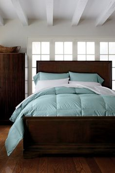 Hungarian goose down is used for the Company Store's Legends comforters, which have a 400-thread count and range in price from $269 to $439.