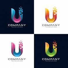 Letter U logo design.