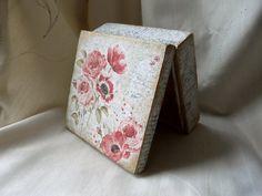 Flower Jewelry Box Decoupaged Wood Box Wooden by TwoCatsAndAnOwl, $35.00