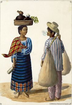 Lechera y panadero, 1847 Arte Filipino, Filipino Culture, Filipino Tribal, Philippines Outfit, Philippines Culture, Cultura Filipina, Filipino Fashion, Philippine Art, Filipiniana