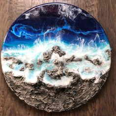 mentions J'aime, commentaires – Ann Upton (Ann Petty Upton.art) su… - Famous Last Words Epoxy Resin Art, Wood Resin, Acrylic Resin, Acrylic Art, Diy Resin Table, Resin Furniture, Diy Resin Crafts, Acrylic Pouring Art, Resin Artwork
