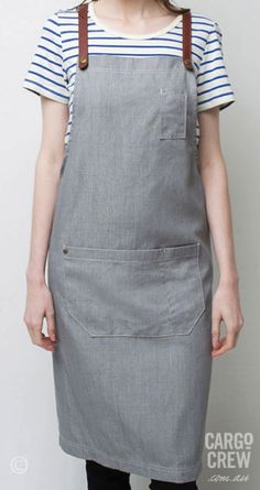 The Henry apron in pebble is one of the hero's of our cross-back apron collection. More at http://cargocrew.com.au