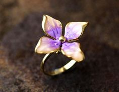 Gorgeous Floral Ring Colorful Flower Adjustable Ring Free Size Plated Jewelry  #New #Band