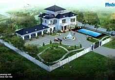 Sims House Design, House Gate Design, Village House Design, Bungalow House Design, Beautiful House Images, Beautiful House Plans, Modern House Plans, Beautiful Buildings, Flat Roof House
