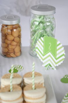 Green Envy: Green Chevron Party Supplies - Perfect for baby showers, birthday parties, bridal showers and everyday parties @BigDotOfHappiness.com #BigDot #HappyDot