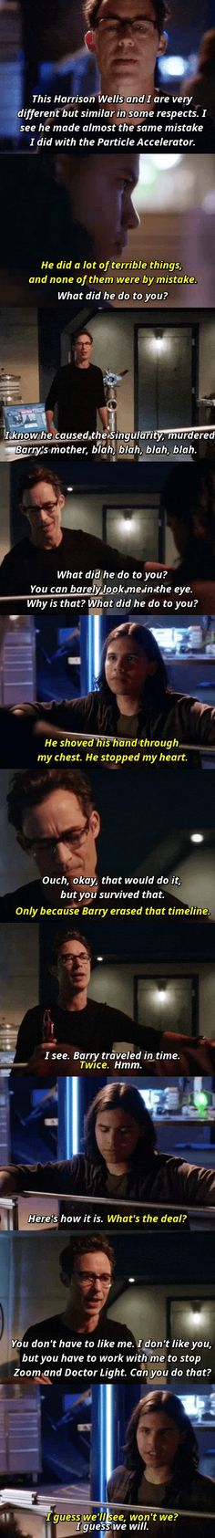 THE FLASH. CISCO RAMON. HARRISON WELLS. THE DARKNESS AND THE LIGHT. 2X05. SEASON 2. HARRY AND CISCO ARE THE BEST.