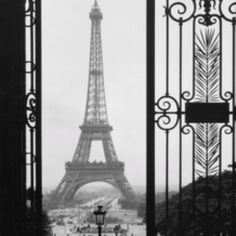 vintage view of la tour eiffel. (paris)