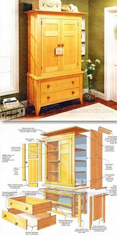 Linen Press Plans - Furniture Plans and Projects   WoodArchivist.com