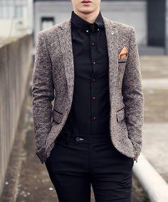 s cotton & wool casual blazer mens suit - Stylish Mens Fashion, Mens Fashion Suits, Look Fashion, Mens Suits, Fashion Outfits, Fashion Boots, Cheap Fashion, Fashion Rings, Fashion Ideas
