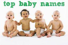 Most popular baby names. #PinAtoZ