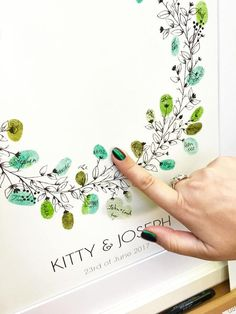 FREE postage within Australia. Tree Wedding, Wedding Guest Book, Wedding Gifts, Wedding Day, Diy Wedding Crafts, Wedding Ideias, Book Wreath, Fingerprint Tree, Ink Pads
