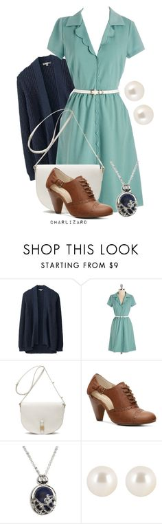 """09. Bite Me"" by charlizard ❤ liked on Polyvore featuring Uniqlo, Myrtlewood, Mulberry, Crown Vintage, CO, Henri Bendel, dmachallenge and plus size dresses"