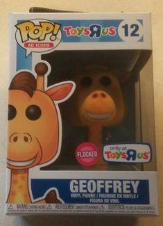 Funko Pop! New Toys R Us Exclusive Flocked Geoffrey 12 + Pop Protector MINT Toys R Us, New Toys, Vinyl Figures, Funko Pop, Giraffe, Mint, Ads, Ebay, Felt Giraffe