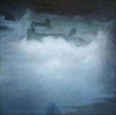 Ramón Serrano, Malecon No.4, 2011, oil on canvas, 90x90in  © Courtesy Corkin Gallery #travel