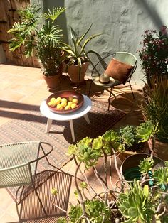 Staged a beautiful Spanish courtyard in Silverlake today.