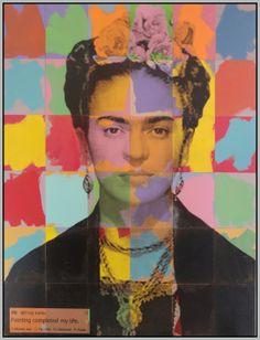"""Saatchi Art Artist: Alejandro Vigilante; Paint 2012 Painting """"FRIDA KAHLO Painting completed my life. """""""