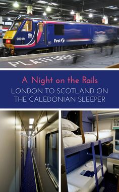 Travelling on the Caledonian Sleeper train between London and Scotland – the routes, timetables, how to book and the experience on board.