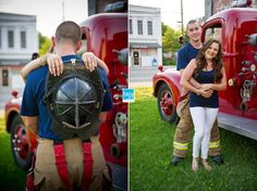 Firefighter Engagement Photos in Eastern NC | Belhaven, NC Wedding ...