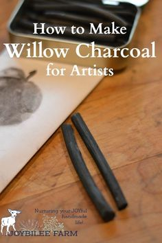 How to make charcoal for drawing and sketching is a handy skill to have. You can make your own artist charcoal at home. Plus your willow charcoal is of higher quality and more sustainable than anything you can buy at your artist supply store. Drawing Techniques, Drawing Tips, Sketching Tips, Drawing Ideas, Homemade Art, Homemade Gifts, Artist Supplies, Do It Yourself Fashion, Gifts For An Artist