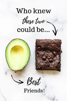 Chewy, rich and slightly gooey, these vegan avocado brownies are your sweet dreams come true! Whip up this quick and easy recipe in minutes and enjoy all the simple decadence of the best healthy vegan brownies! Vegan Avocado Brownies, Healthy Vegan Brownies, Vegan Foods, Vegan Recipes, Paleo Diet, Avocado Toast, Flax Seed Recipes, Vegan Blueberry, Avocado Recipes