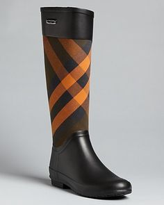 Rain Boots Clemence Check  Must have these!!