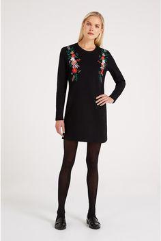 Joy Kimy Embroidered Cotton Tunic Dress